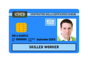 Blue CSCS card